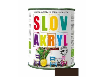 Slovakryl 0240 0,75kg - tmavohnedý