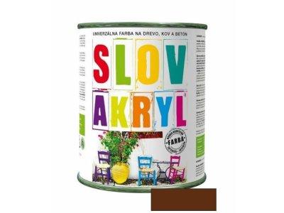 Slovakryl 0230 0,75kg - hnedý