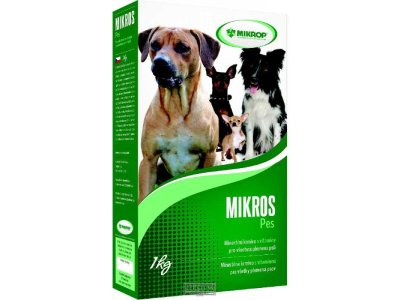 MIKROS pes, doplnok stravy  pre všetky plemená psov, 1 KG