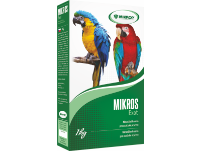 MIKROS Exot minerálne krmivo pre exotické vtáctvo , 1KG