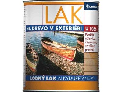 Lodný lak U1066 0,75l - alkyduretánový lesklý transparentný lak na drevo
