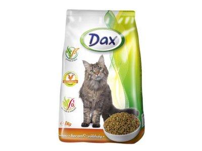 DAX  granulované krmivo pre MAČKY -  hydina+zelenina, 1KG