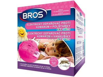 Bros Elektrický strojček odparovač proti komárom + 10 náhradných vankúšikov pre deti