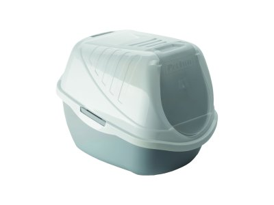 Pet Inn WC s krytom EASY CAT 54x40x40cm sivé