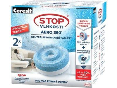 CERESIT Stop Vlhkosti Aero 360° 2 v 1 2× 450 g náhradné tablety