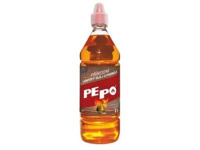 PE-PO Prírodný lampový olej citronela - odpudzovač hmyzu 1 L