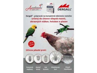 DERGALL® 100 ml, prostriedok proti parazitom, na hydinu