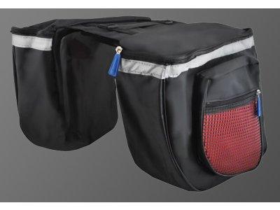 Taška na bicykel - čierno/červená