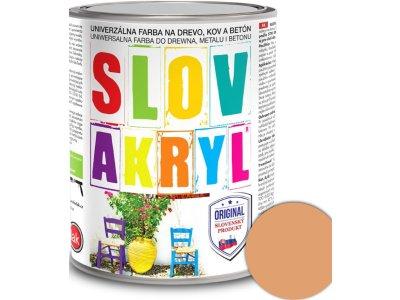Slovakryl 0210 0,75kg - hnedý pastel