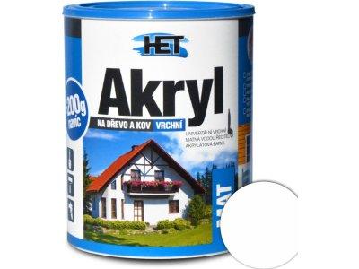 Het Akryl mat 0100 0,7kg biela