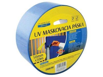 Maskovacia páska, modrá UV stabilná - 50m/380mm