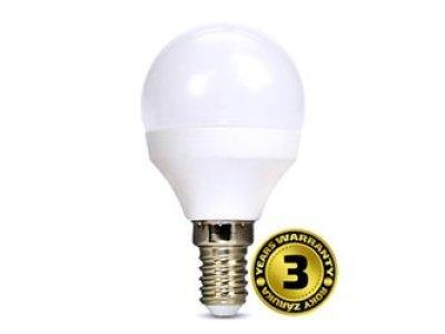 Solight LED žiarovka, miniglobe, 8W, E14, 4000K, 720lm,  neutrálna biela