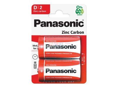 Batérie R201,5V D - ZinkChlorid Panasonic / 2ks MONO, LR20, HR20