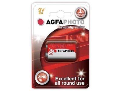 Batérie 9,0V / 6F22 -  AgfaPhoto, Blister Zink-Chloridová
