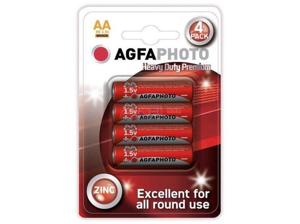 Batérie 1,5V AA - ZinkChlorid AgfaPhoto 4ks blister Mignon, R6