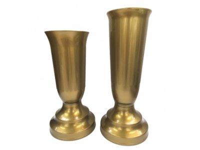 KALICH/VÁZA záťažový - Zlatý, 27cm