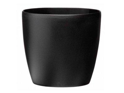 Kvetináč BRUSELS čierny- 18cm