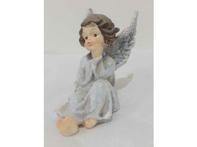 Dekorácia ANJEL s trbliatávými krídlami - 10cm