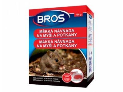 Rodenticíd BROS mäkká návnada na myši a potkany -150g