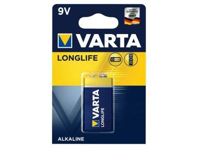 Bat. 9,0V / 6F22 - Alkaline Varta LONGLIFE 6LR61 LongLife