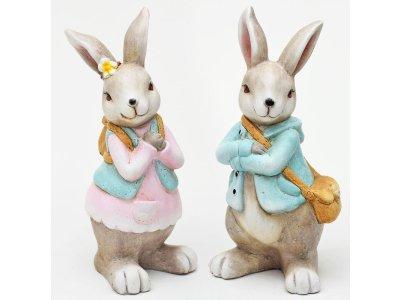 Keramický zajac DIEVČA, 26cm
