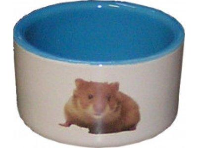 Miska keramická modrá pre škrečka 7,5cm