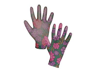 Dámské pracovné rukavice LEIVA máčané v PU, vel. 8