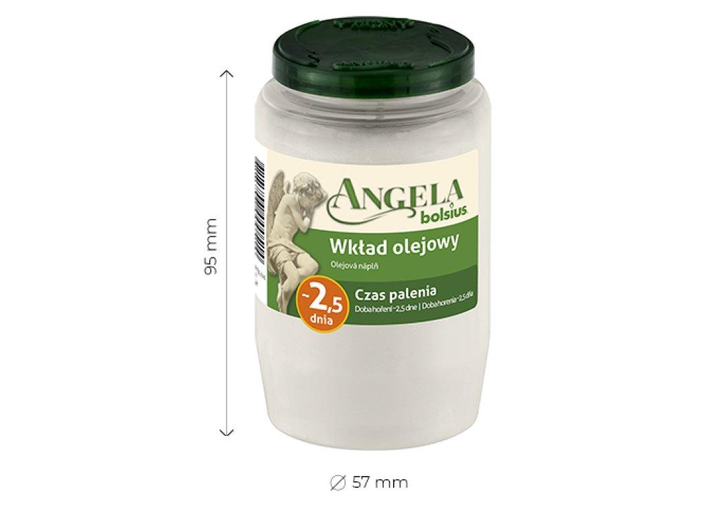 Náhrobný kahanec, náplň  BOLSIUS Angela olejová 2,5 dňová